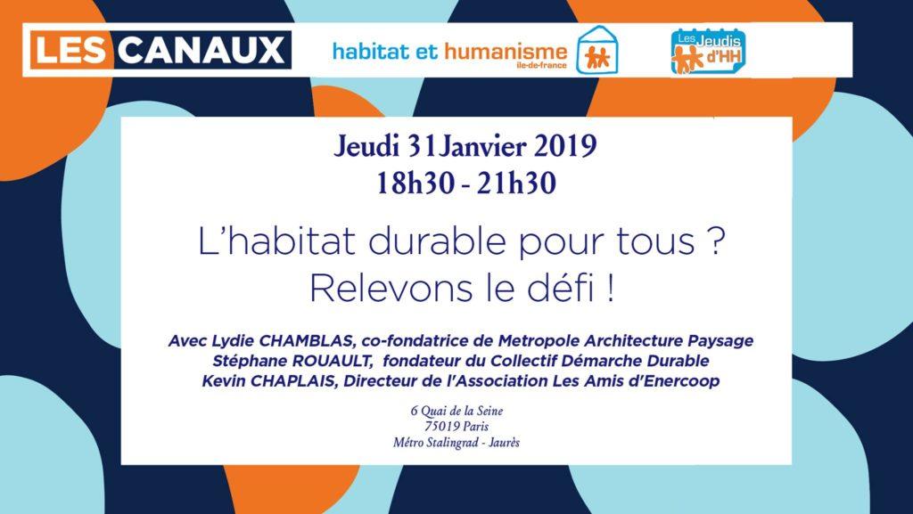 Conférence «L'habitat durable pour tous» – Stéphane Rouault