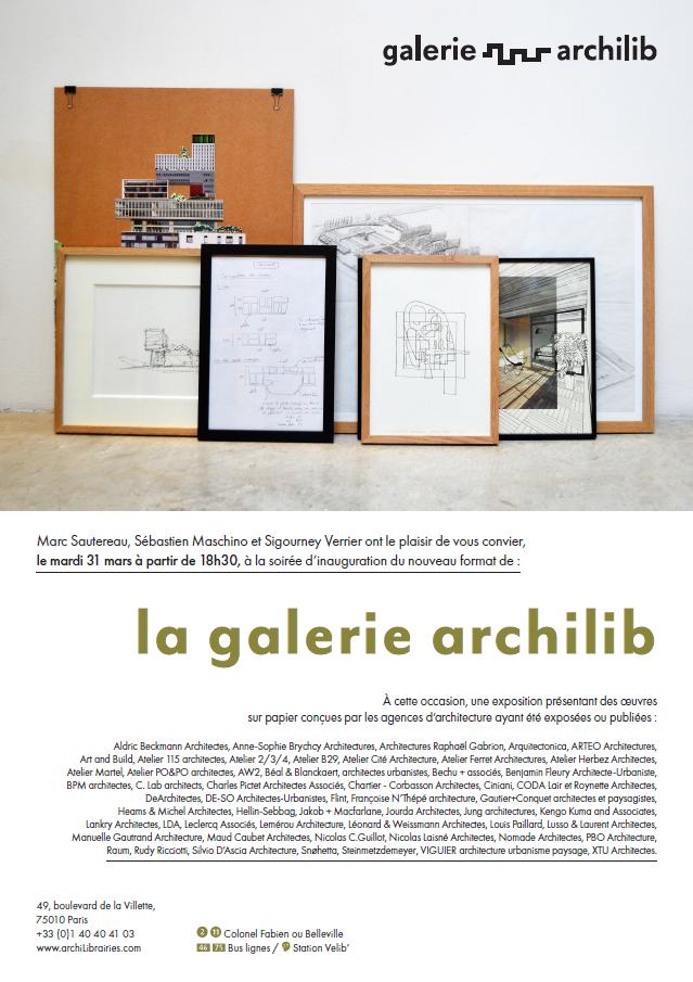 Exposition et vente de dessins – archiLib Paris